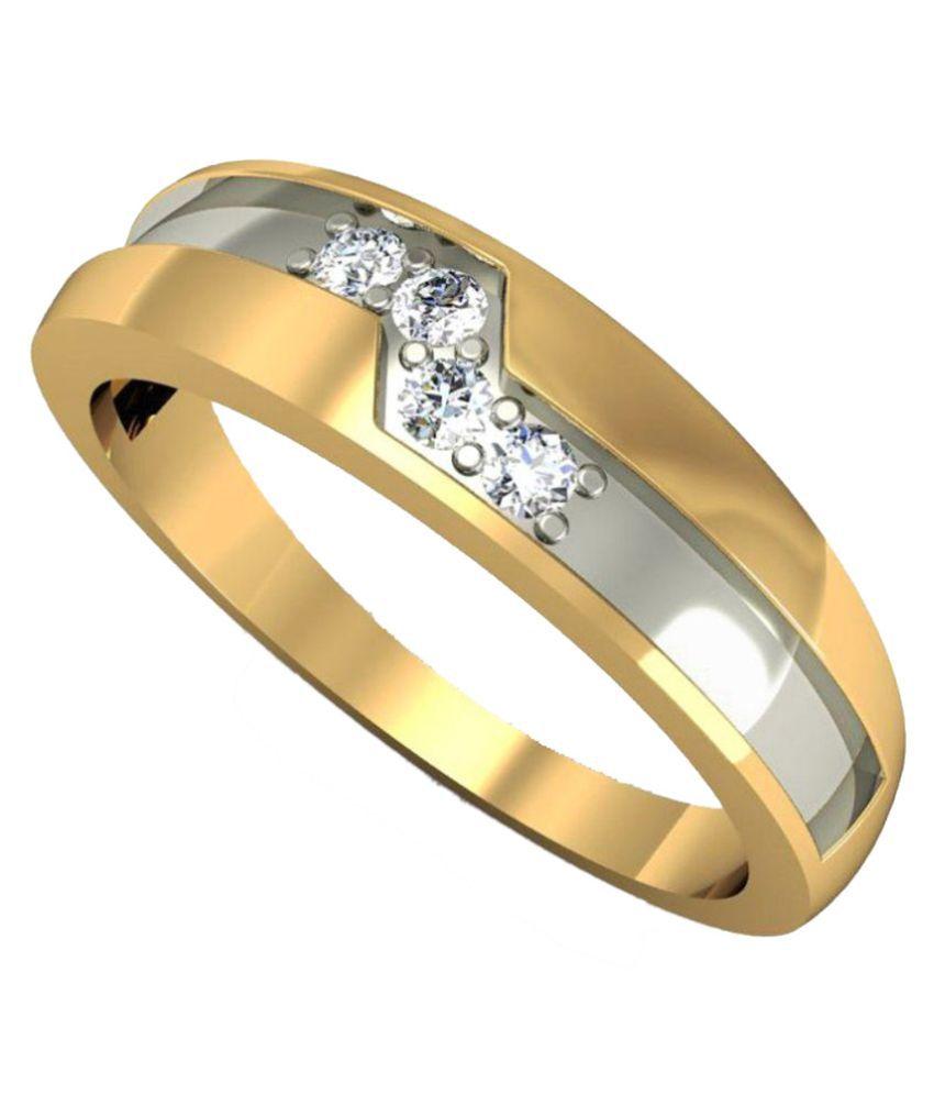 Rasav Jewels 14Kt Gold and Diamond BIS Hallmarked Ring