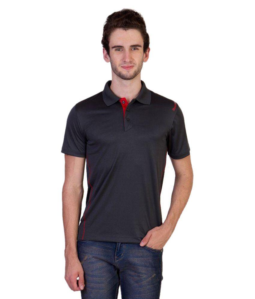 Reebok Black Polo T Shirts