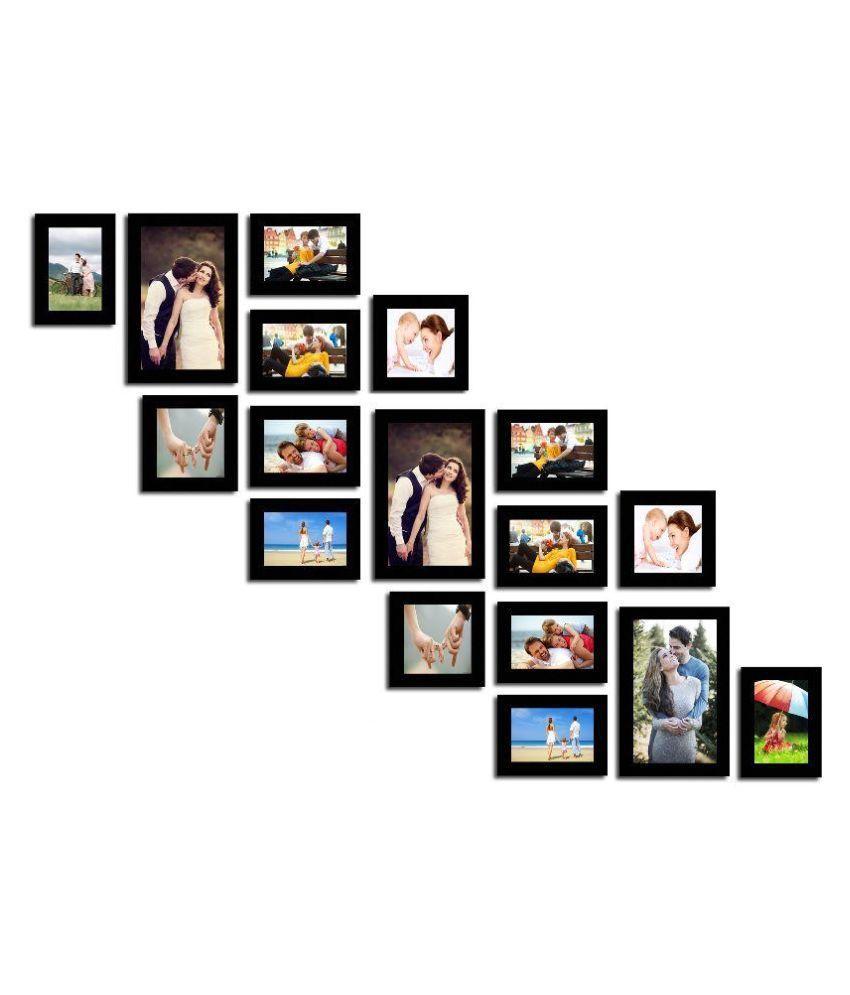 swadesistuff mdf wall hanging black collage photo frame. Black Bedroom Furniture Sets. Home Design Ideas