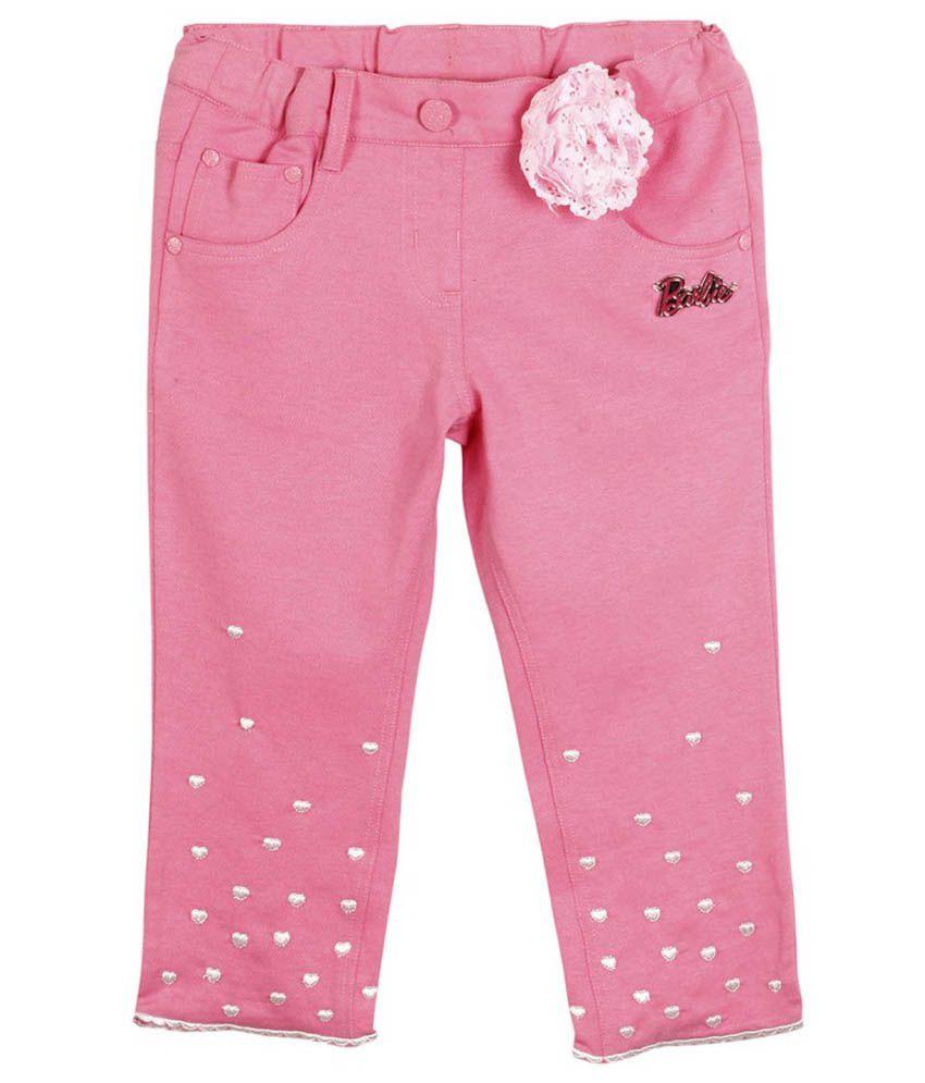 Barbie Pink Blended Cotton Capris