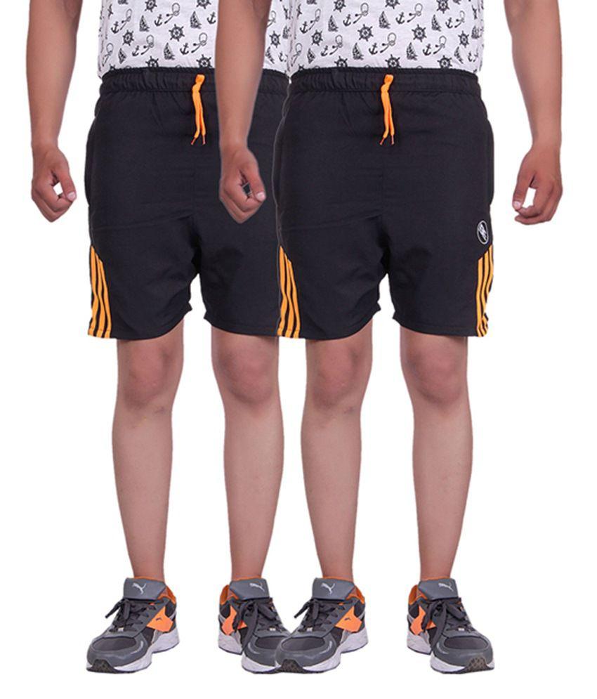 Belmarsh Black Shorts Pack of 2