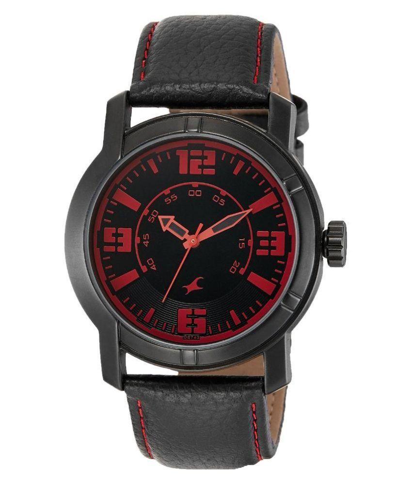 fastrack black 3021nl01 mens watch buy fastrack black
