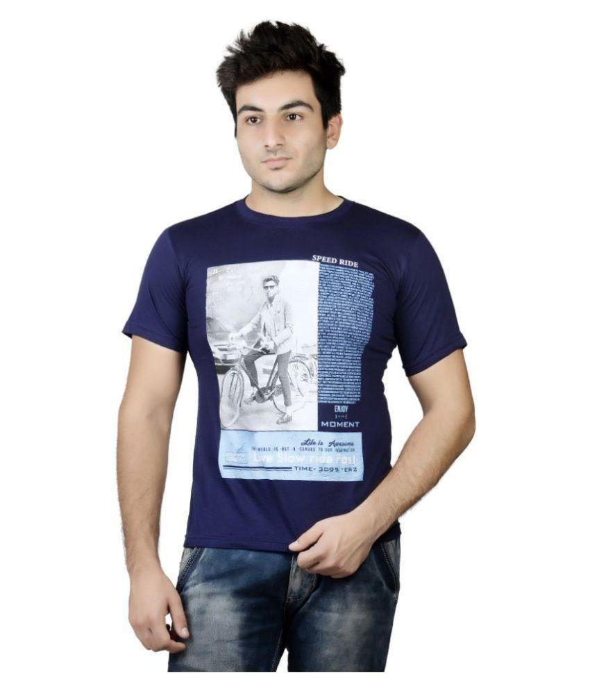 Karya Blue Round T Shirt
