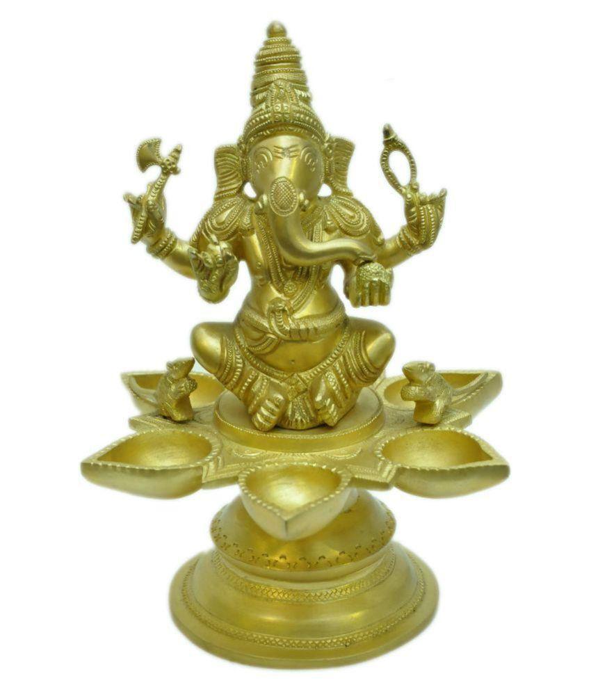 MohanJodero Golden Ganesha Idol