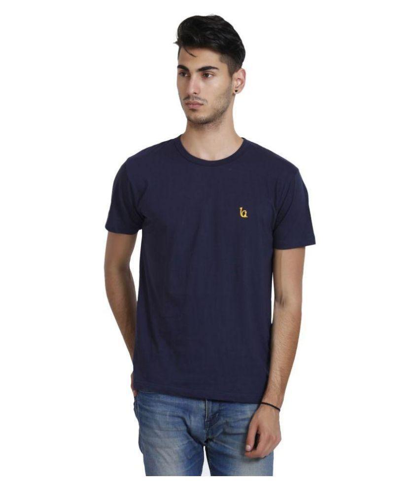 Blackcatz Navy Round T Shirt
