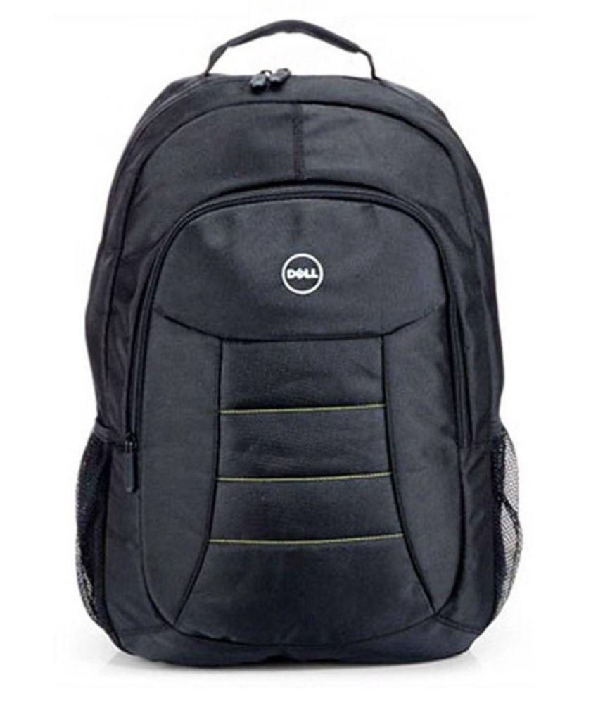 Dell Black Polyester Laptop Backpack