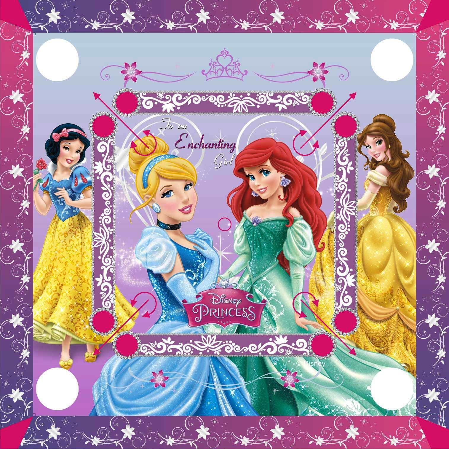 Disney Princess Carom Board -Multicolor