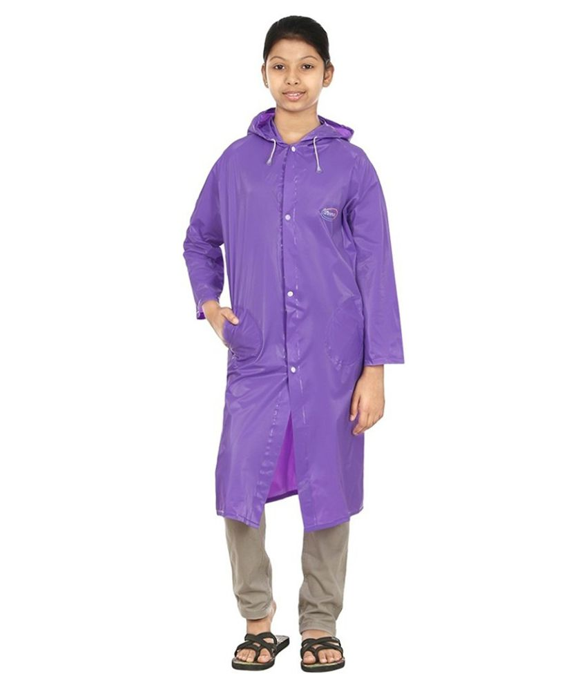 Inside Fashion Purple Viscose Rainwear