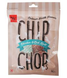 Chip Chop Chicken And Cod Roll Dog Snack - Pack Of 3