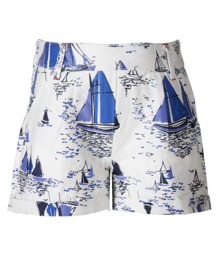 Naughty Ninos Blue and White Short