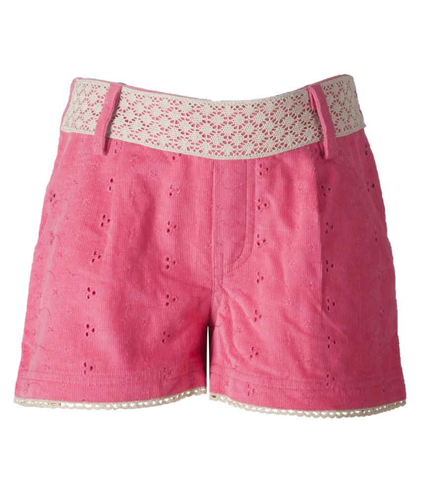 Naughty Ninos Pink Cotton Shorts