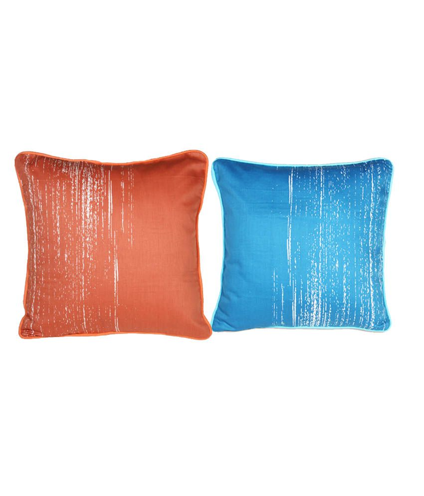 House This Multicolour Abstract Cotton Cushion Cover - Set of 2