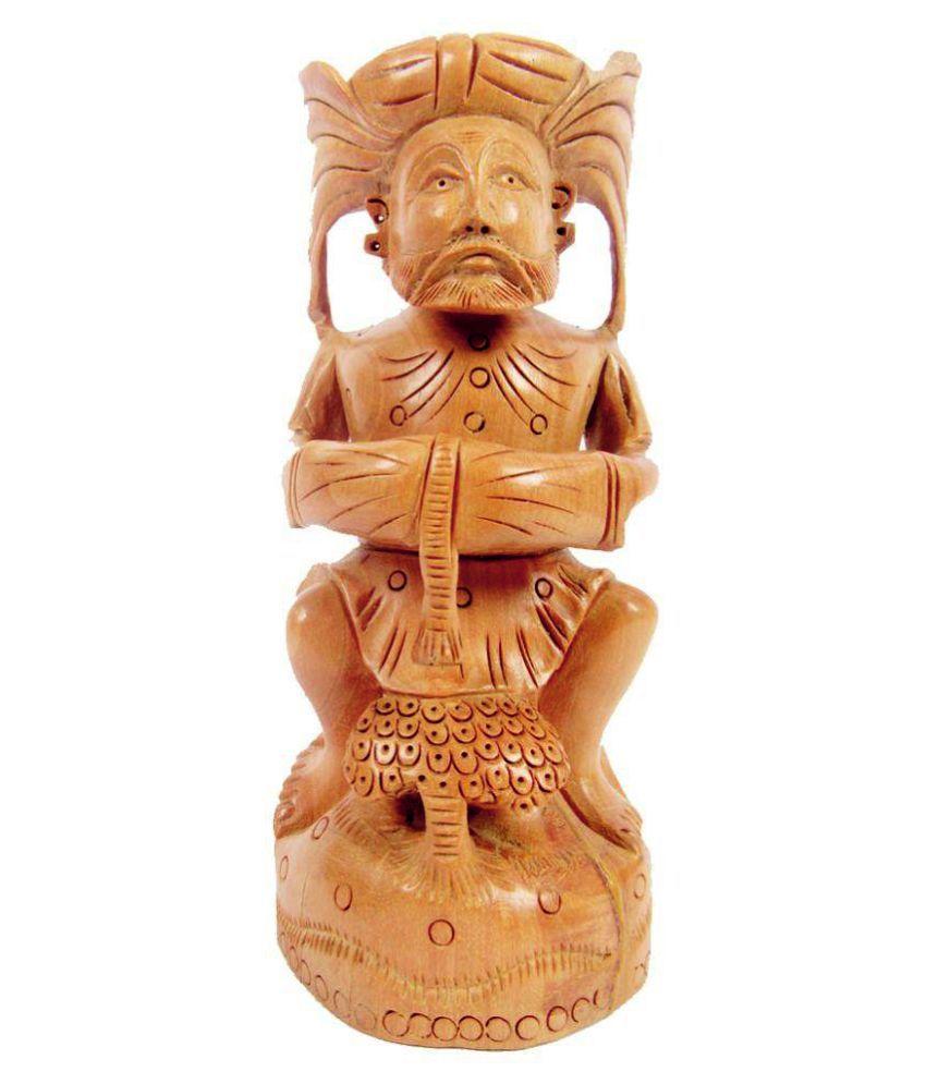 Indian Arts Museum Brown Wooden Music Man
