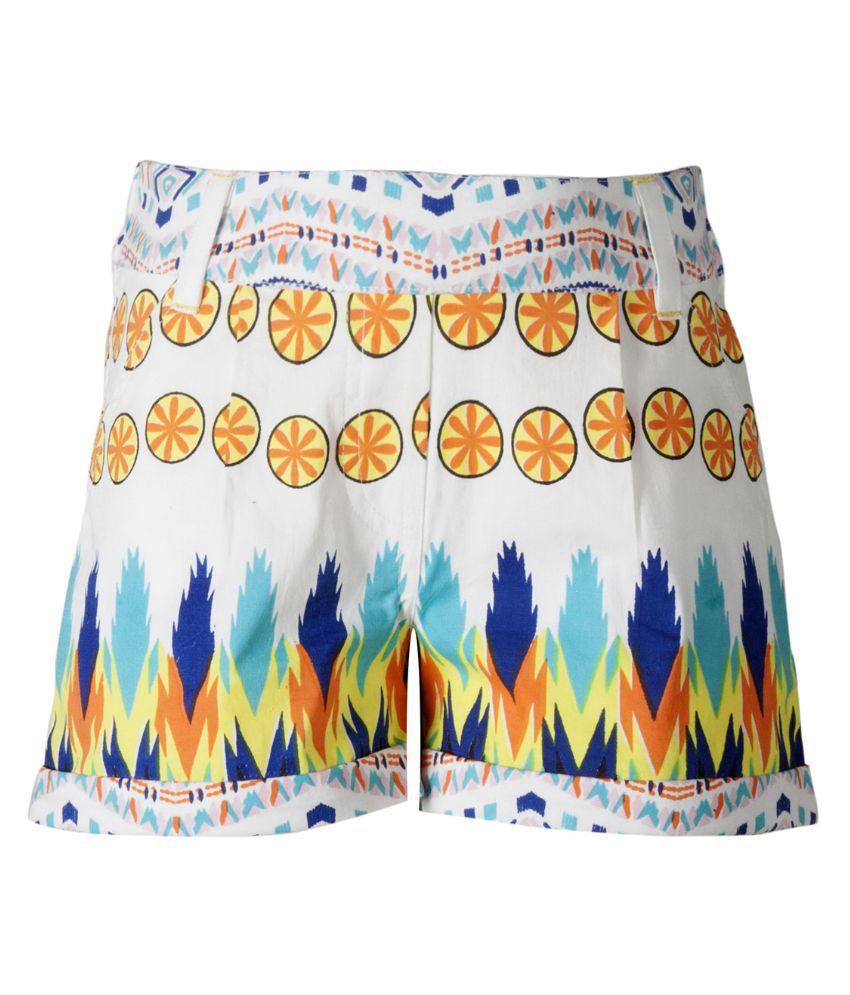 Naughty Ninos Multicolor Cotton Printed Shorts