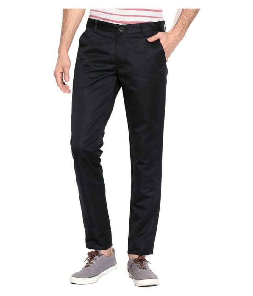 SS TROUSERS Black Regular Chinos Trouser