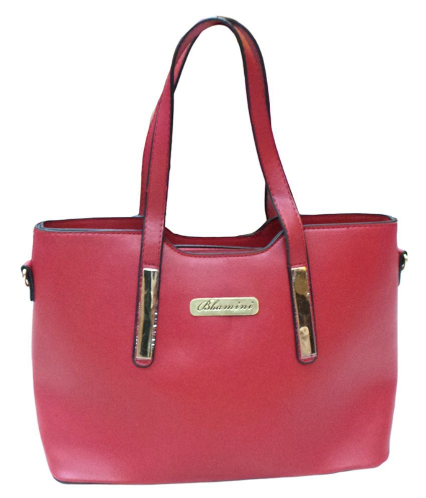 Bhamini Red P.U. Shoulder Bag