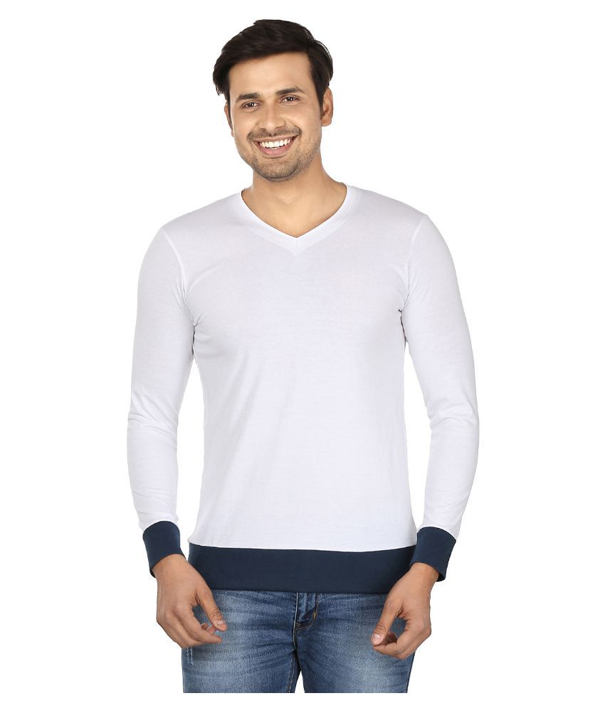 Jangoboy White V-Neck T Shirt