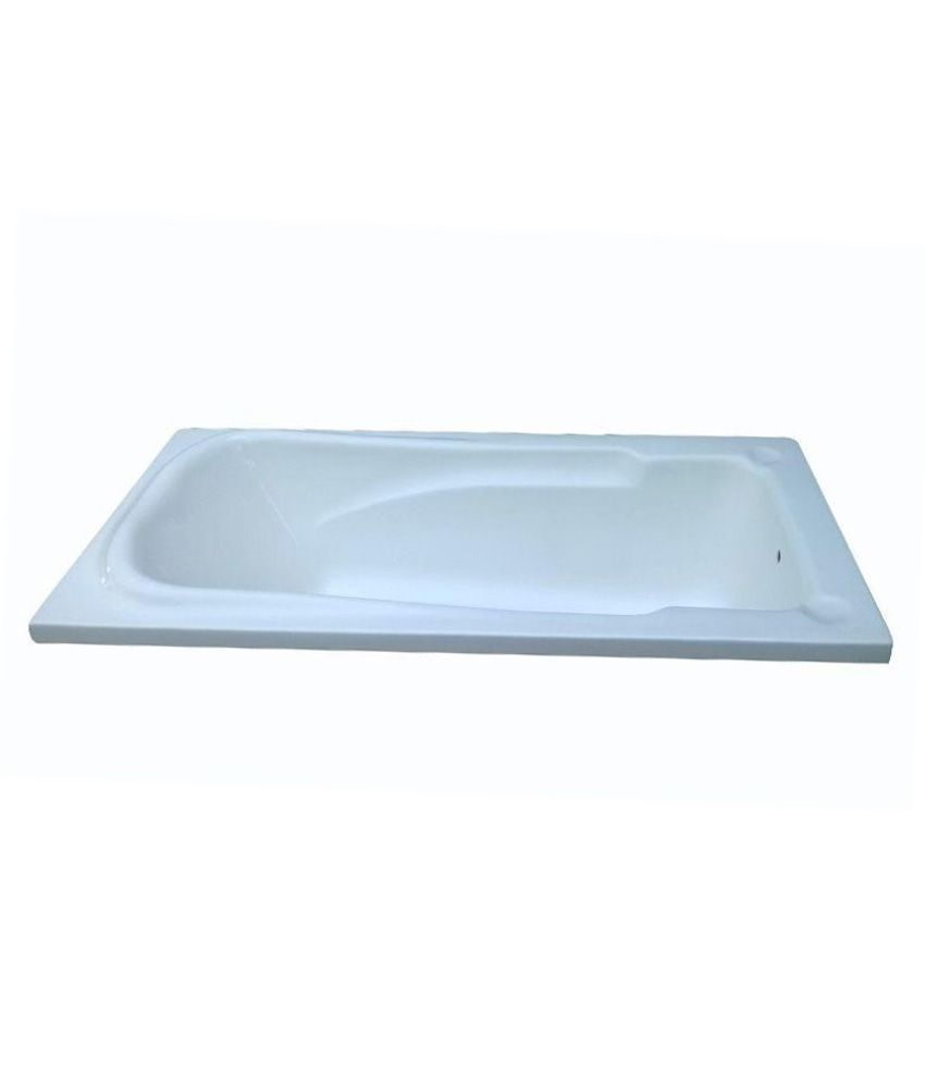 Buy Madonna Splendour Acrylic Fixed Bathtub - White Online at Low ...