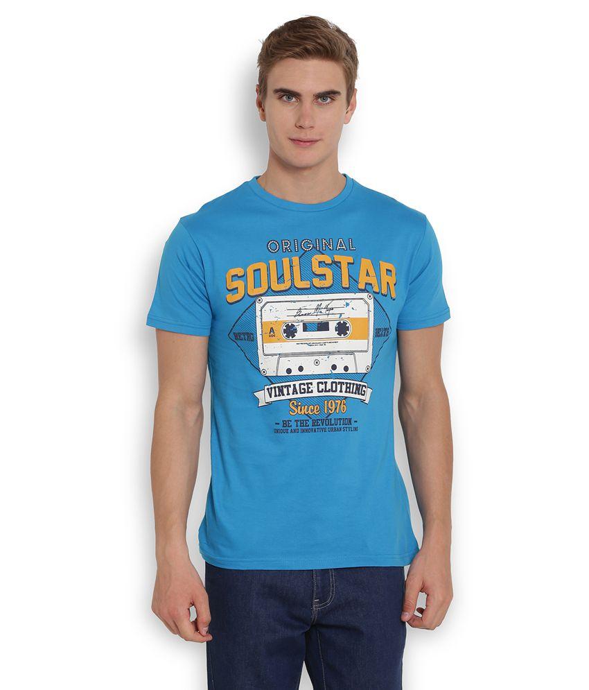 Soulstar Blue Round T Shirt