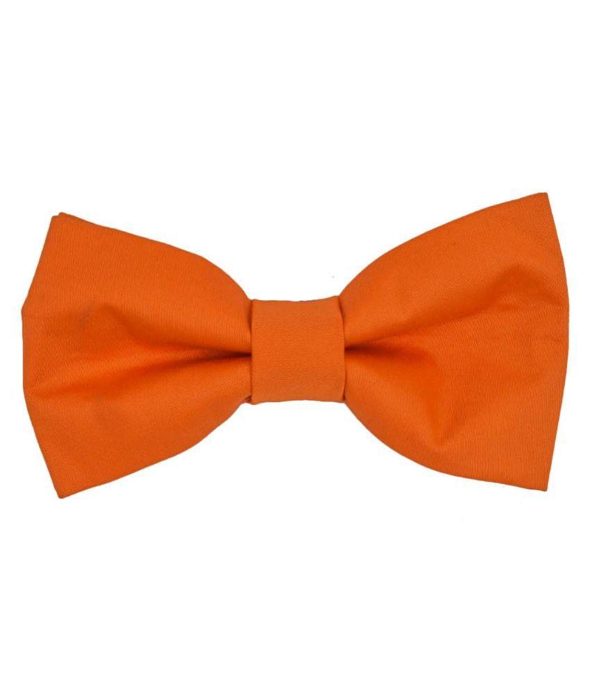 Tiekart Orange Silk Bow Tie for Men