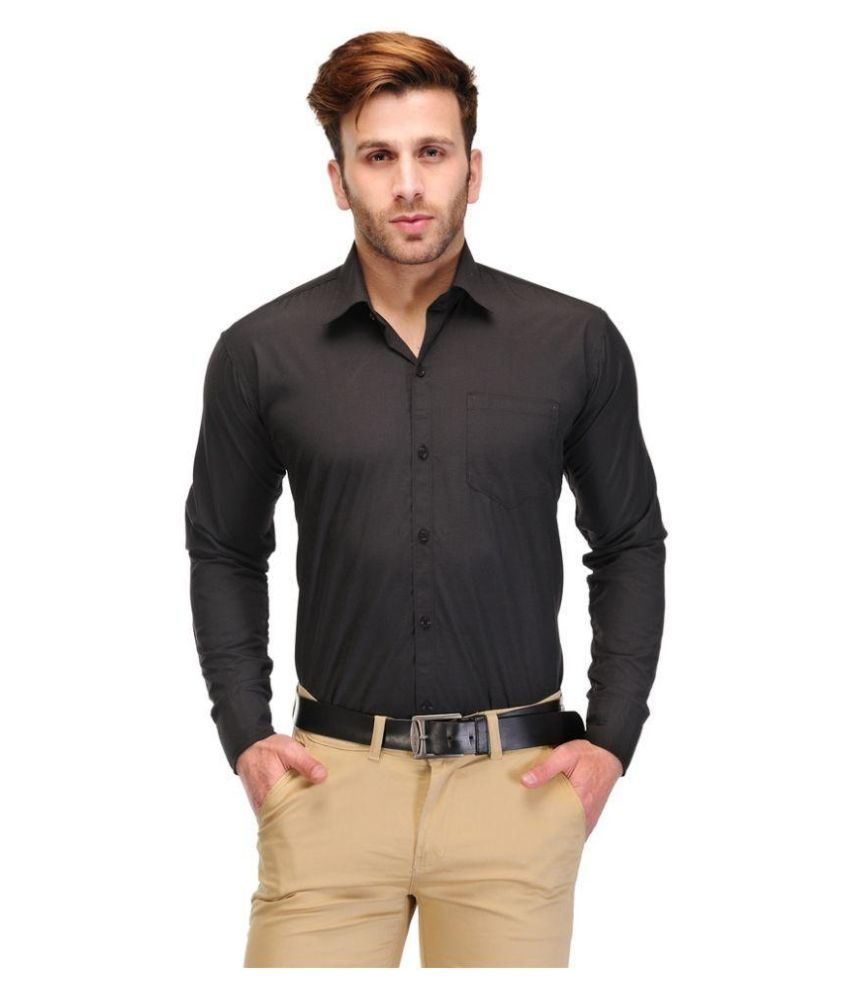 Unique for men black formal slim fit shirt buy unique for Black tuxedo shirt for men
