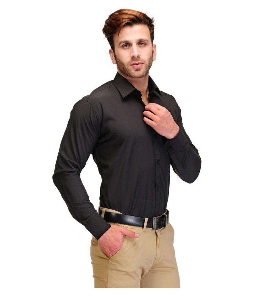 Black shirt buy artee shirt for Black tuxedo shirt for men