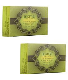 Aroma Treasure Skin Whitening And Brightening Facial Kit For Dry Skin- (Pack Of 2)