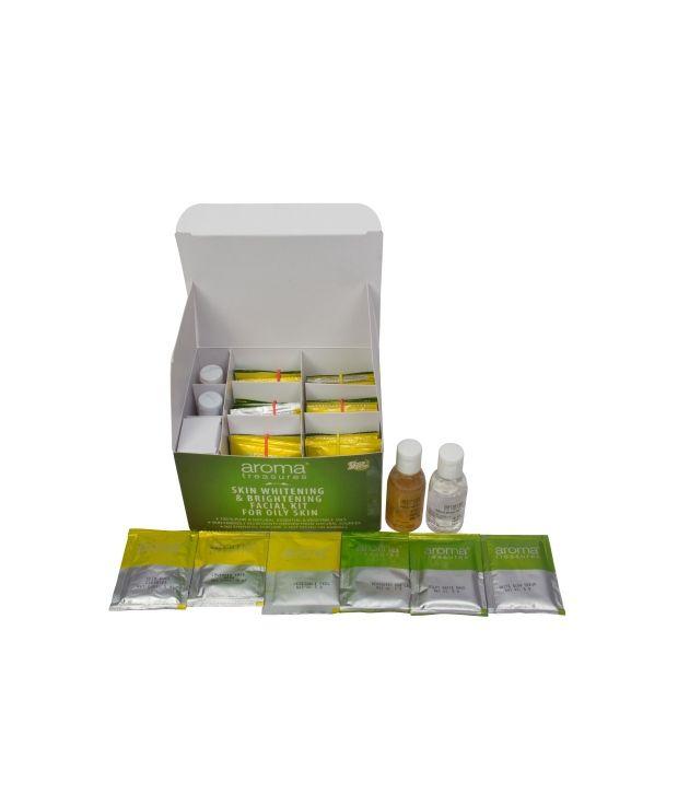 Aroma Treasures Skin Whitening & Brightening Facial Kit For Oily Skin