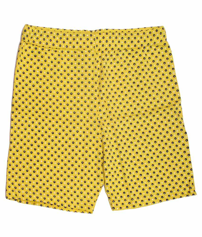 Babeezworld Yellow Cotton Shorts