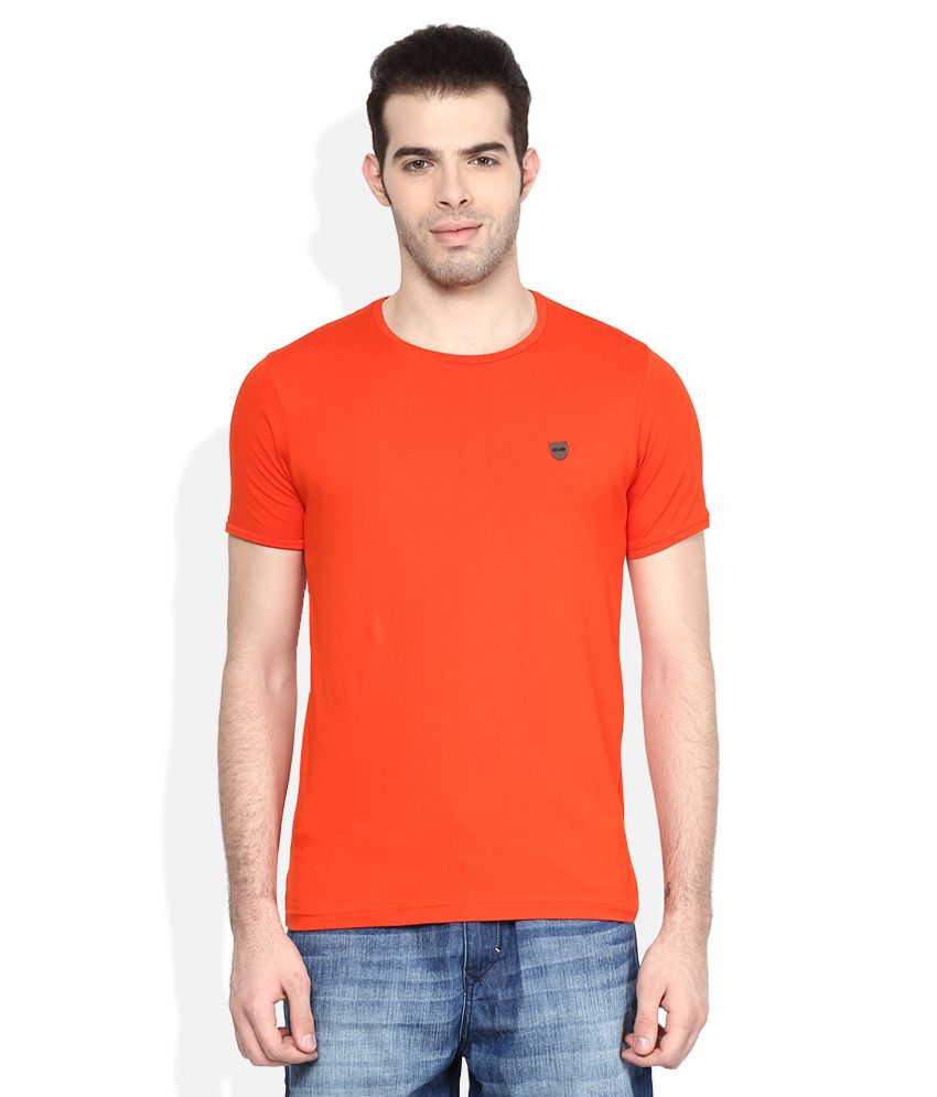 Cloak& Decker By Monte Carlo Orange Round Neck Sol