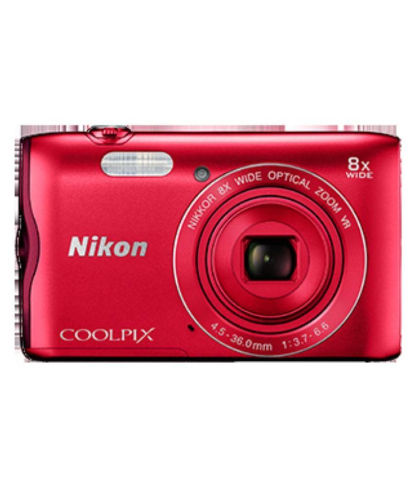 Nikon Coolpix A300 Point & Shoot Camera(Red) Coolpix A300
