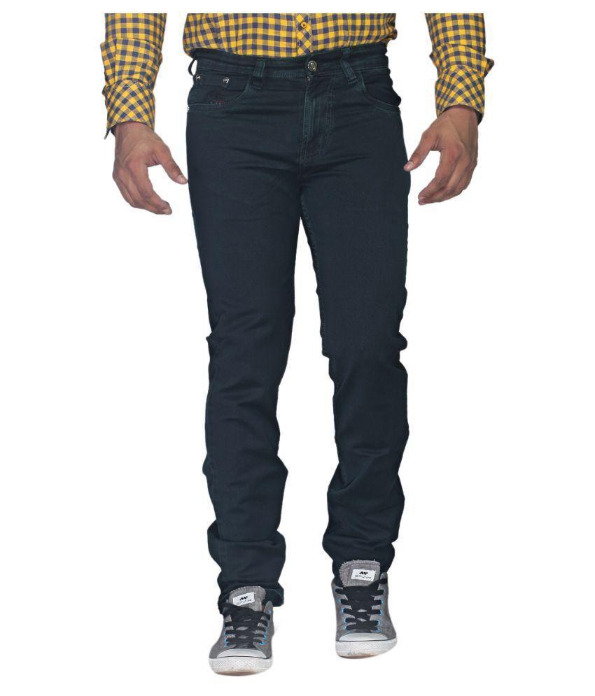 Skyline Blue Slim Fit Solid Jeans