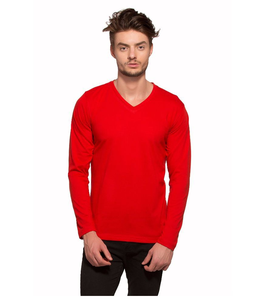 Alan Jones Red V-Neck T Shirt