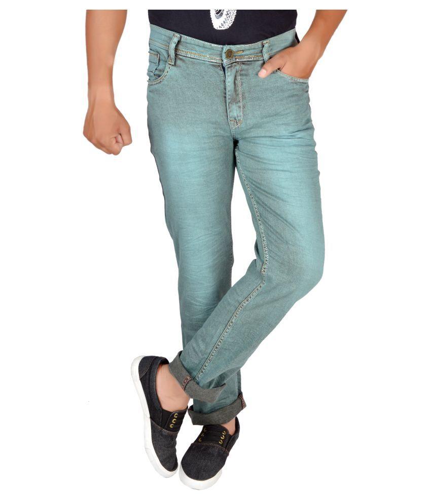 Allen Martin Grey Regular Fit Faded Jeans