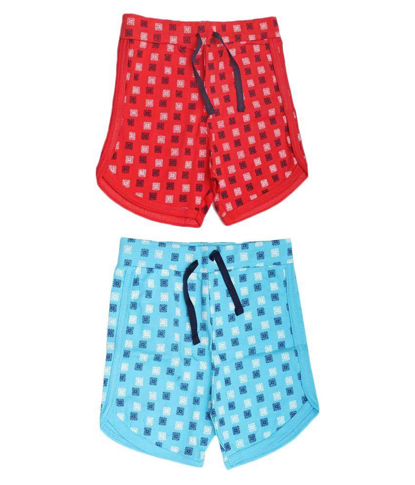 Babeezworld Multicolor Shorts - Pack of 2