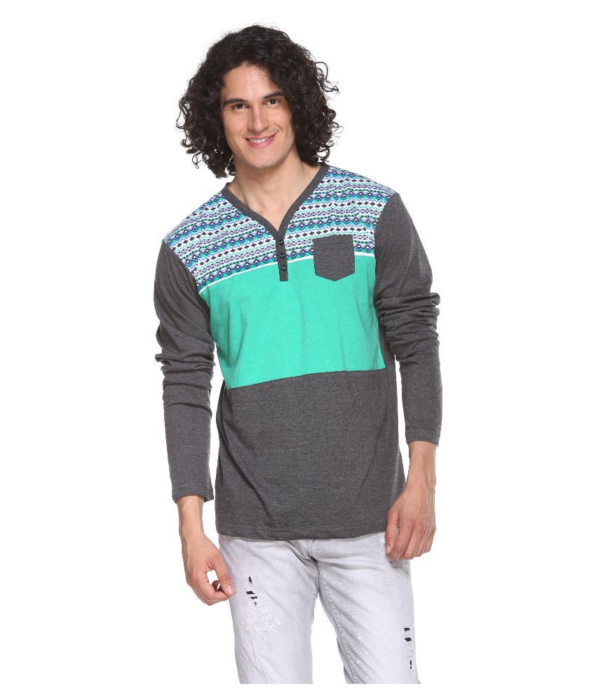 Pro Riders Multicolor V-Neck T Shirt