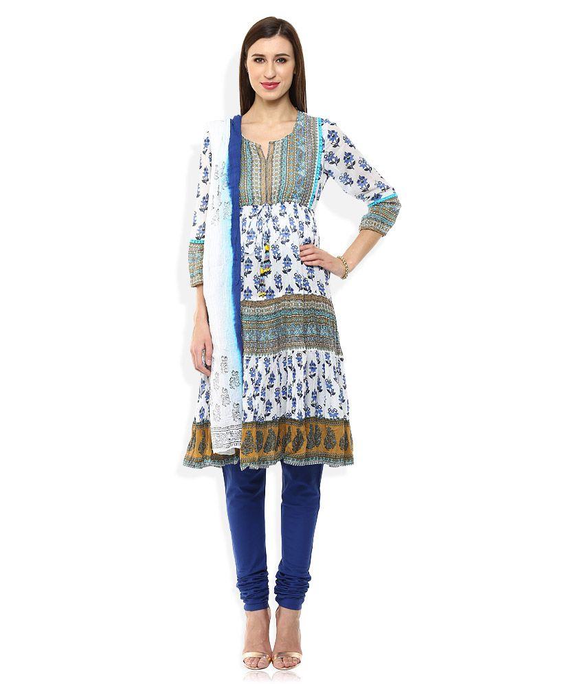 Rain & Rainbow Blue Cotton Salwar Suit