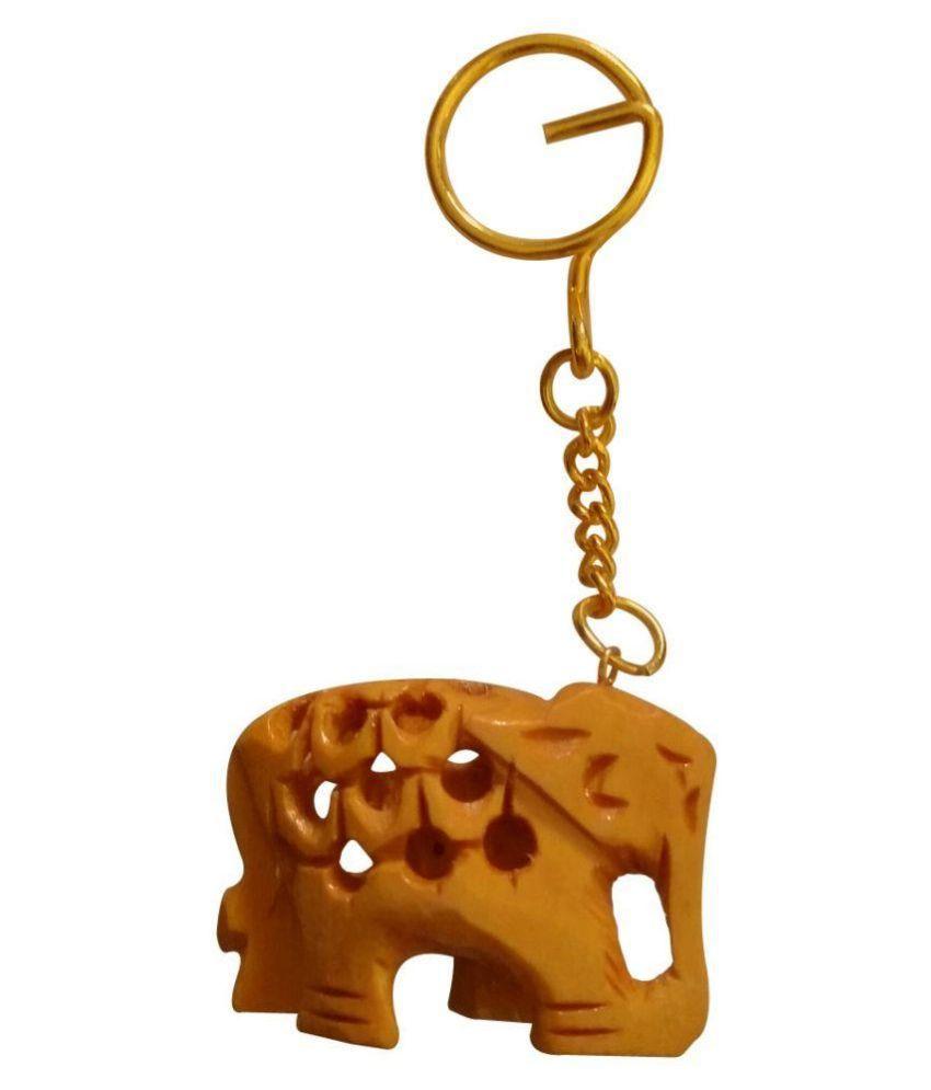 Sarjan Brown Elephant Keychain