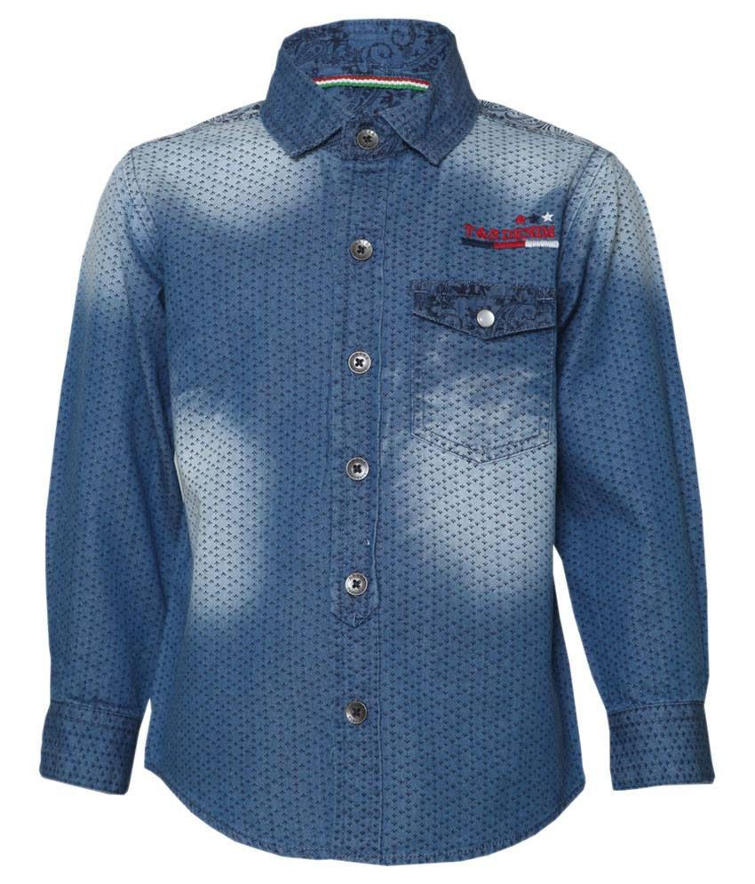 Tales & Stories Blue Denim Baby Shirt