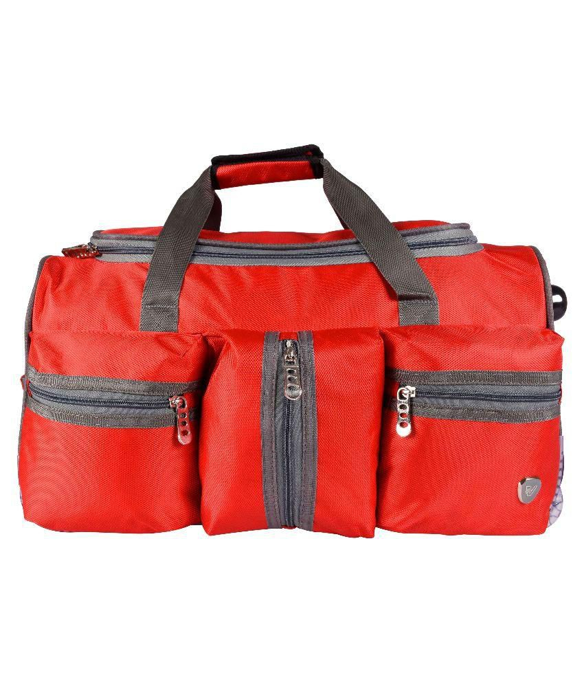 Verage Carbon Polyester Red Duffle Trolley
