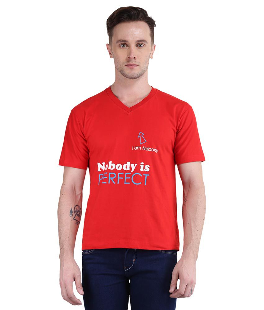 British Terminal Red V-Neck T Shirt