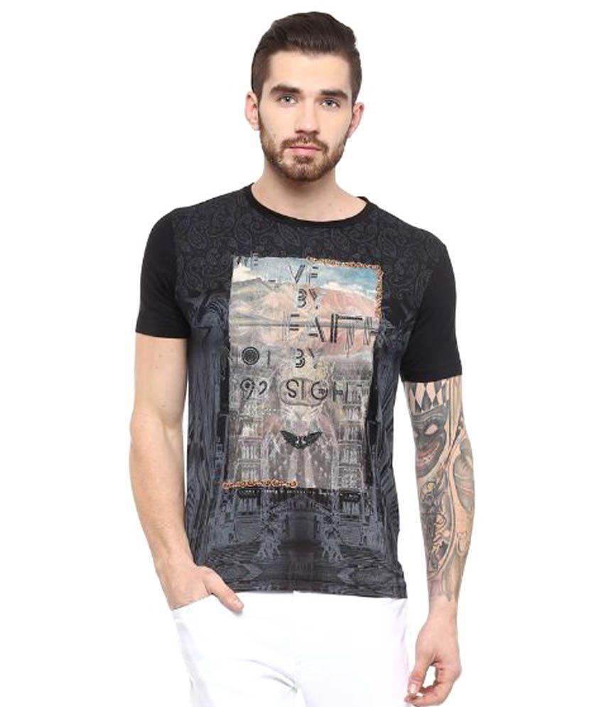 Fritzberg Black Round T Shirt