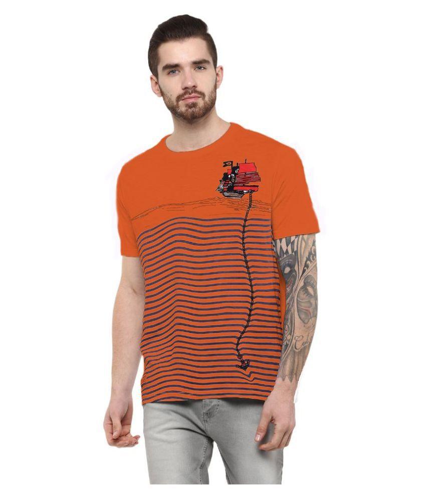 Fritzberg Orange Round T Shirt