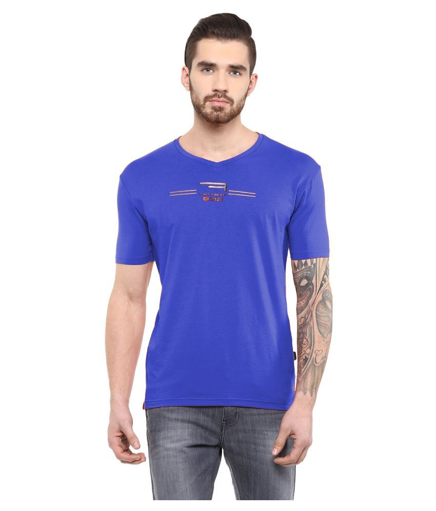 Fritzberg Purple V-Neck T Shirt