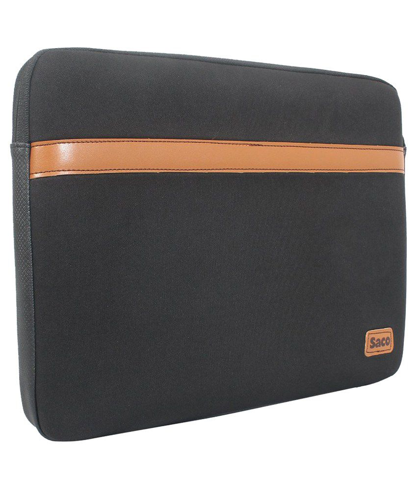 Saco Black P.U. Laptop Sleeve