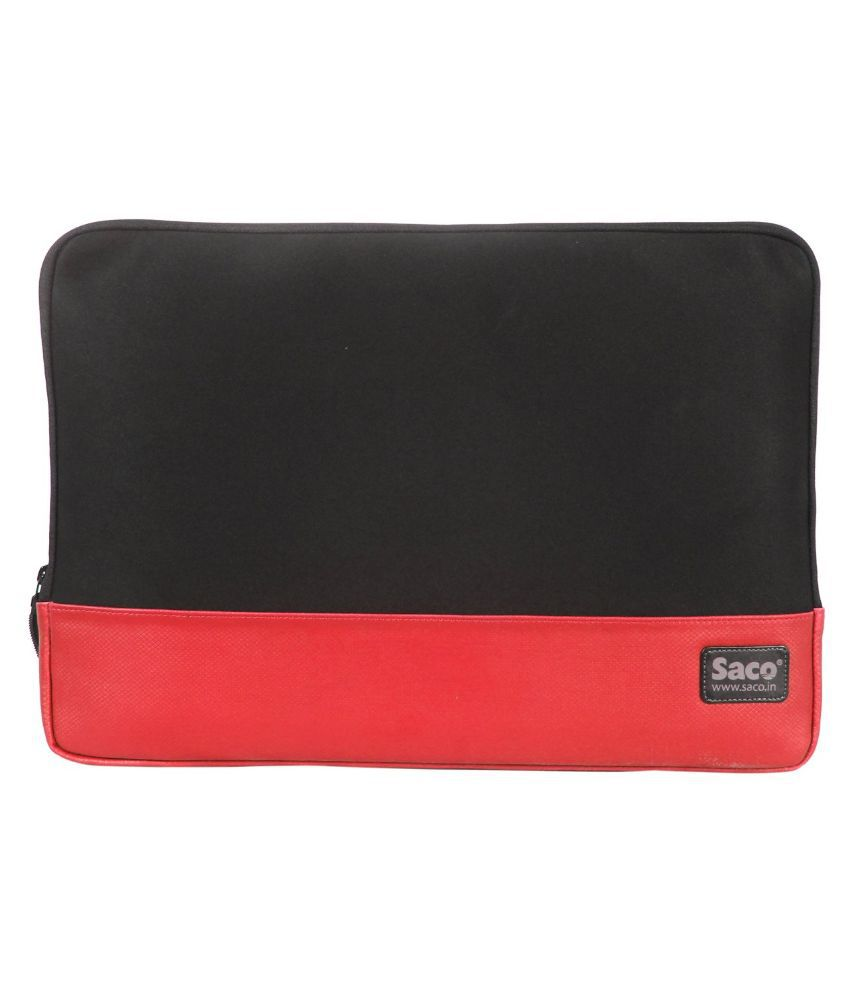 Saco Red Synthetic Laptop Sleeve