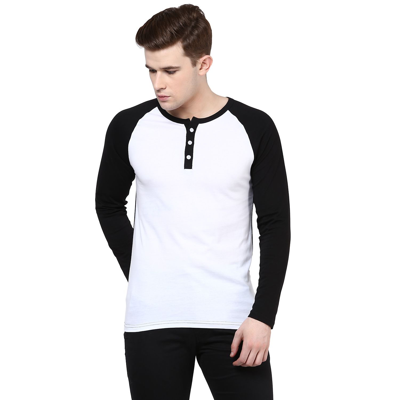 Benoit White Henley T Shirt