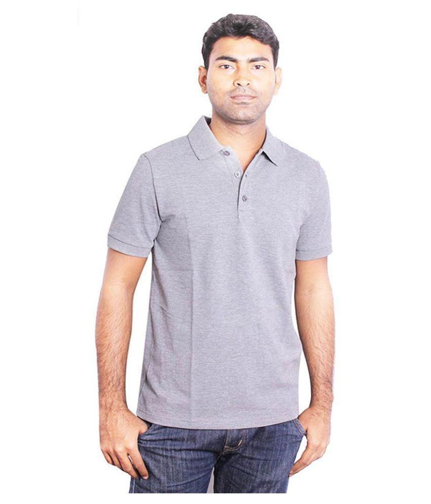 Puma Grey Polo T Shirts
