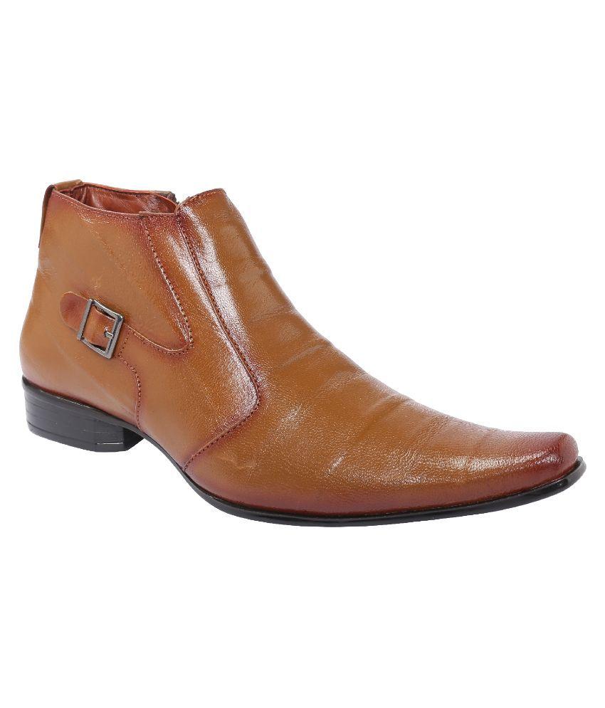 Shoe Bazar Tan Boots