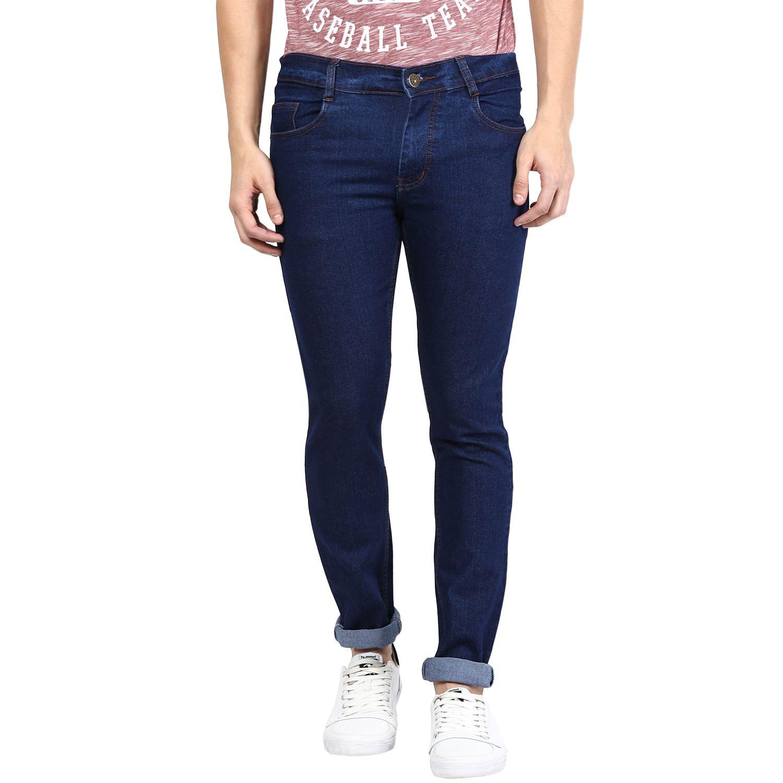 Zea-aL Blue Slim Fit Solid Jeans